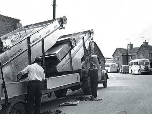 Alvan Blanch Cascade Driers Being Loaded at Chelworth