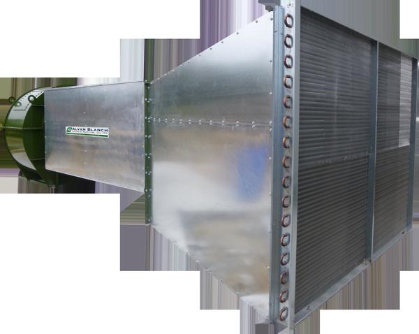 Alvan Blanch Fan Heater System Heat Exchanger option
