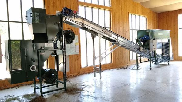 Alvan Blanch Pneumatic Leaf Separator and Brushing Machine France