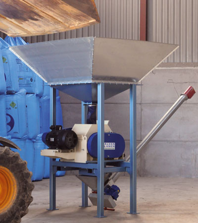Alvan Blanch Roller Mill with feed hopper 1