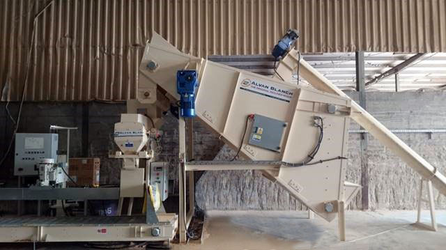 Alvan Blanch Bagging System and Meal Mixer Muesly Molasses UAE 6 sack per minute 18 tph